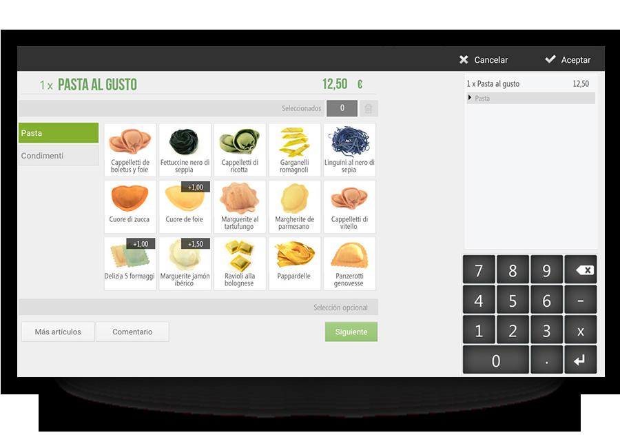 Personalisieren Sie Gerichte nach Kundenwunsch